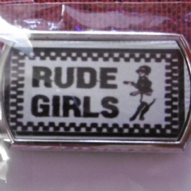 Rude Girls Ska Keyring